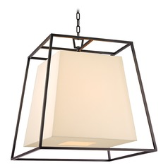 Kyle 6 Light Pendant Light Square Shade - Old Bronze