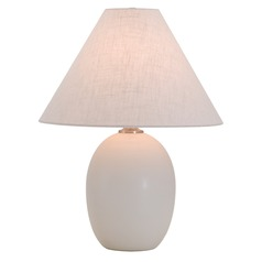 House Of Troy Scatchard White Matte Table Lamp with Conical Shade