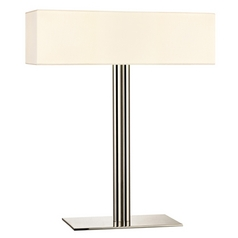 Sonneman Lighting Madison Satin Nickel Table Lamp with Rectangle Shade