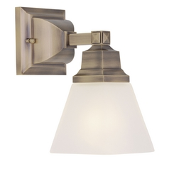 Livex Lighting Mission Antique Brass Sconce