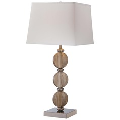 Minka Lavery Brushed Nickel Table Lamp with Square Shade