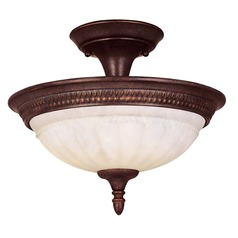 Savoy House Walnut Patina Semi-Flushmount Light