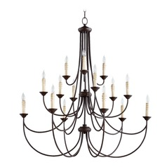 Quorum Lighting Brooks Oiled Bronze Chandelier