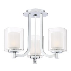 Quoizel Lighting Kolt Polished Chrome Semi-Flushmount Light