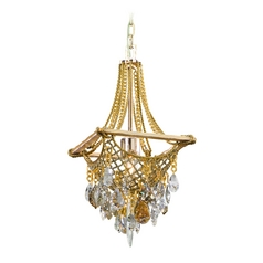 Corbett Lighting Barcelona Silver and Gold Leaf Pendant Light