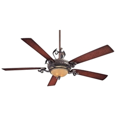 68-Inch Ceiling Fan with Five Blades and Light Kit
