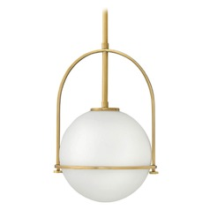 Somerset Heritage Brass Pendant Light with Globe Shade