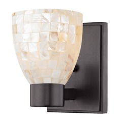 Mosaic Glass Sconce Bronze