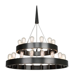 Industrial Chandelier 2-Tier 30-Light Bronze by Robert Abbey