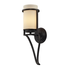Elk Lighting Modern LED Sconce Wall Light with Amber Glass in Oiled Bronze Finish 31313/1-LED