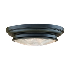 Flushmount Light with Clear Glass in Old Bronze Finish