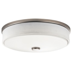 Kichler Flushmount Drum Ceiling Light with White Shade