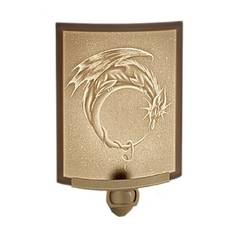 Porcelain Garden Lighting Dragon Moon Lithophane Night Light NR151