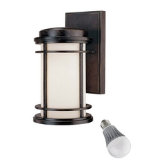 Dolan Designs 10-1/2-Inch Outdoor Wall Light with 8-Watt LED Bulb 9103-68 8W LED