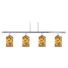 Design Classics Axel Fuse Chrome Island Light with Cylindrical Shade