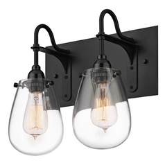 Industrial Bathroom Light Black Chelsea by Sonneman Lighting