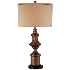 Minka Lavery Table Lamp with Drum Shade