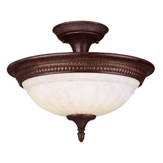 Savoy House Lighting Karyl Pierce Paxton Walnut Patina Semi-Flushmount Light