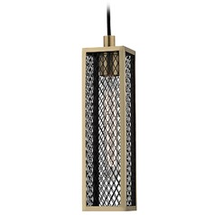 Brookline 1 Light Mini-Pendant Light - Aged Brass