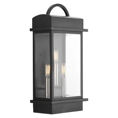 Progress Lighting Santee Black Outdoor Wall Light
