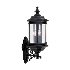 Sea Gull Lighting Hill Gate Black LED Outdoor Wall Light