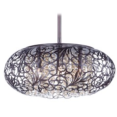 Maxim Lighting Arabesque Oil Rubbed Bronze Pendant Light with Oval Shade