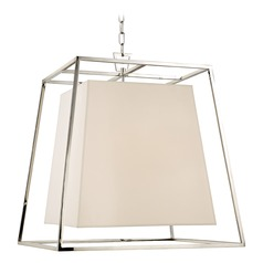 Kyle 6 Light Pendant Light Square Shade - Polished Nickel