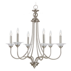 Chandelier in Antique Brushed Nickel Finish