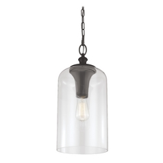 Feiss Lighting Hounslow Oil Rubbed Bronze Mini-Pendant Light with Cylindrical Shade