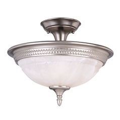 Savoy House Lighting Karyl Pierce Paxton Pewter Semi-Flushmount Light