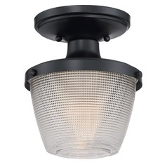 Quoizel Lighting Prismatic Glass Mystic Black Semi-Flushmount Light