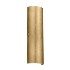Sconce Wall Light with Gold Glass in Satin Nickel Finish