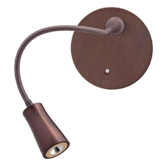 Modern LED Wall Lamp in Bronze Finish