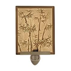 Porcelain Garden Lighting Bamboo Motif Lithophane Night Light NR138