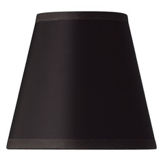 Black Parchment Bell Lamp Shade with Clip-On Assembly