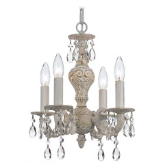 Crystorama Lighting Paris Market Antique White Crystal Chandelier