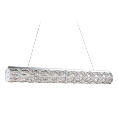 Crystal Chrome LED Pendant with Clear Shade 4000K 2240LM
