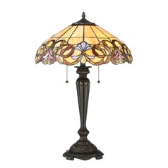 Quoizel Lighting Tiffany Imperial Bronze Table Lamp with Scalloped Shade