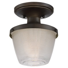 Quoizel Lighting Prismatic Glass Palladian Bronze Semi-Flushmount Light