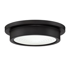 Bronze LED Flushmount Light with Painted White Shade 3000K 1100LM