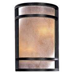 Minka Lighting Modern Sconce Wall Light with White Glass in Dark Restoration Bronze Finish 345-37B