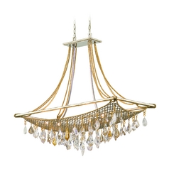 Corbett Lighting Barcelona Silver and Gold Leaf Island Light