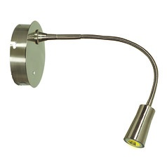 Modern LED Wall Lamp in Brushed Steel Finish