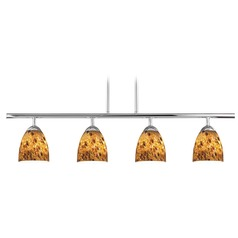 Design Classics Axel Fuse Chrome Island Light with Bell Shade