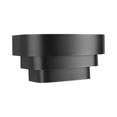 Progress Black Stepped Sconce Wall Light