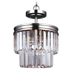 Sea Gull Lighting Carondelet Antique Brushed Nickel Pendant Light
