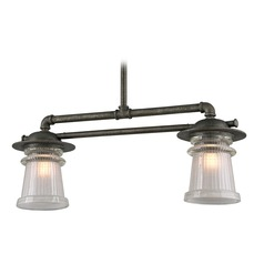 Troy Lighting Pearl Street Charred Zinc Outdoor Hanging Light