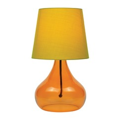 Lite Source Jamie Orange Table Lamp with Coolie Shade
