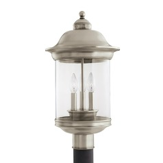 Sea Gull Lighting Hermitage Antique Brushed Nickel LED Post Light