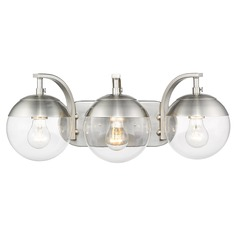 Golden Lighting Dixon Pewter Bathroom Light